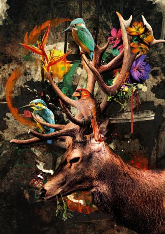 kunstwerk, bloom, interieur, betekenis